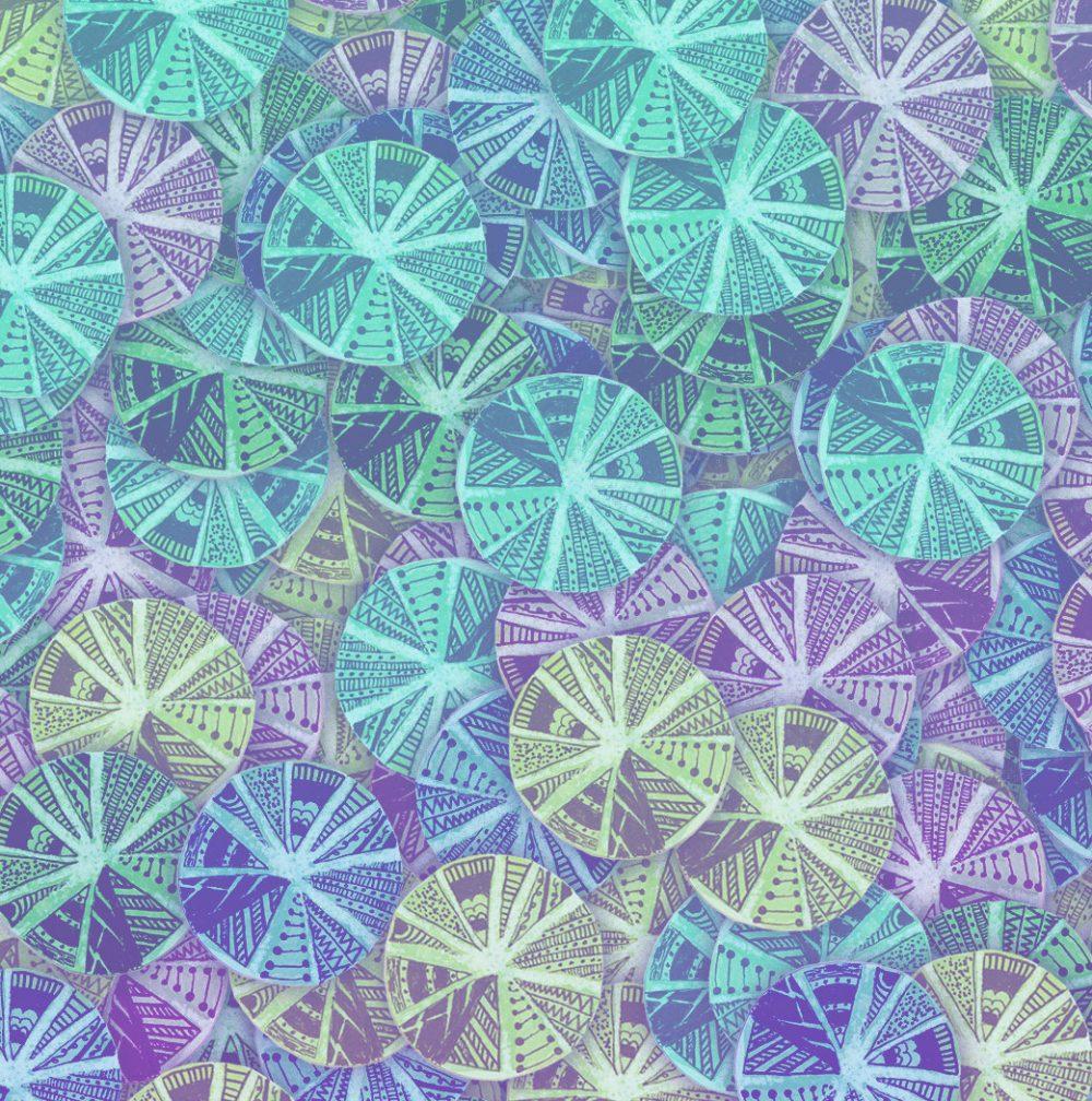 Aqua Sangria Cut Paper Circles