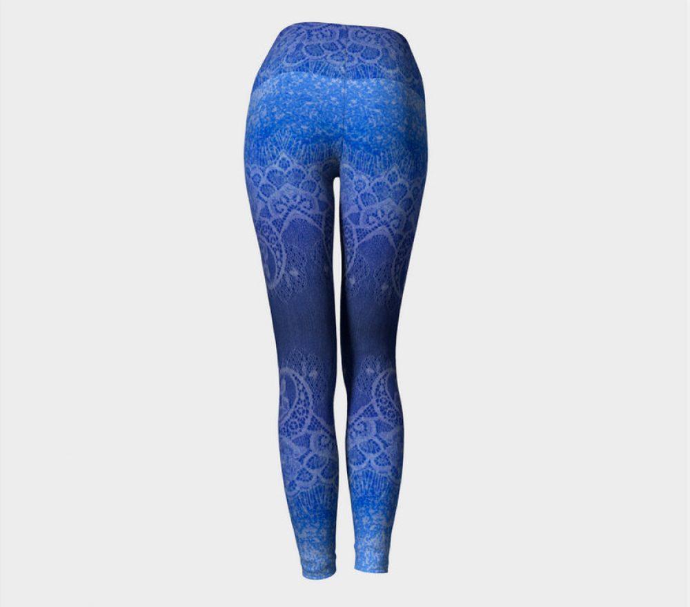 Blue Ombre Yoga Pants