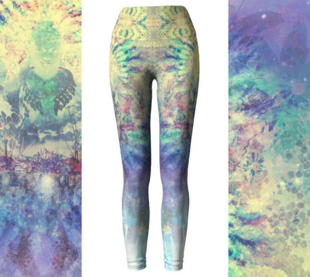 Buddha Collage High Waist Leggings