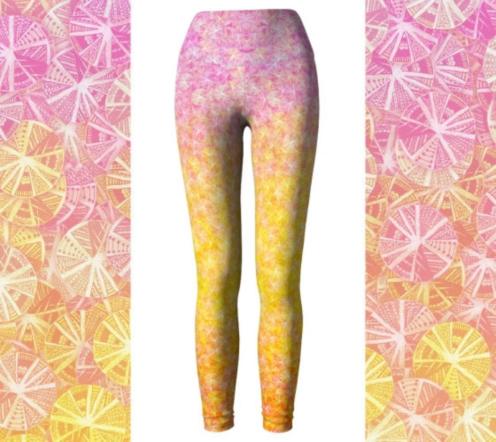 Citrus Ombre Yoga Leggings