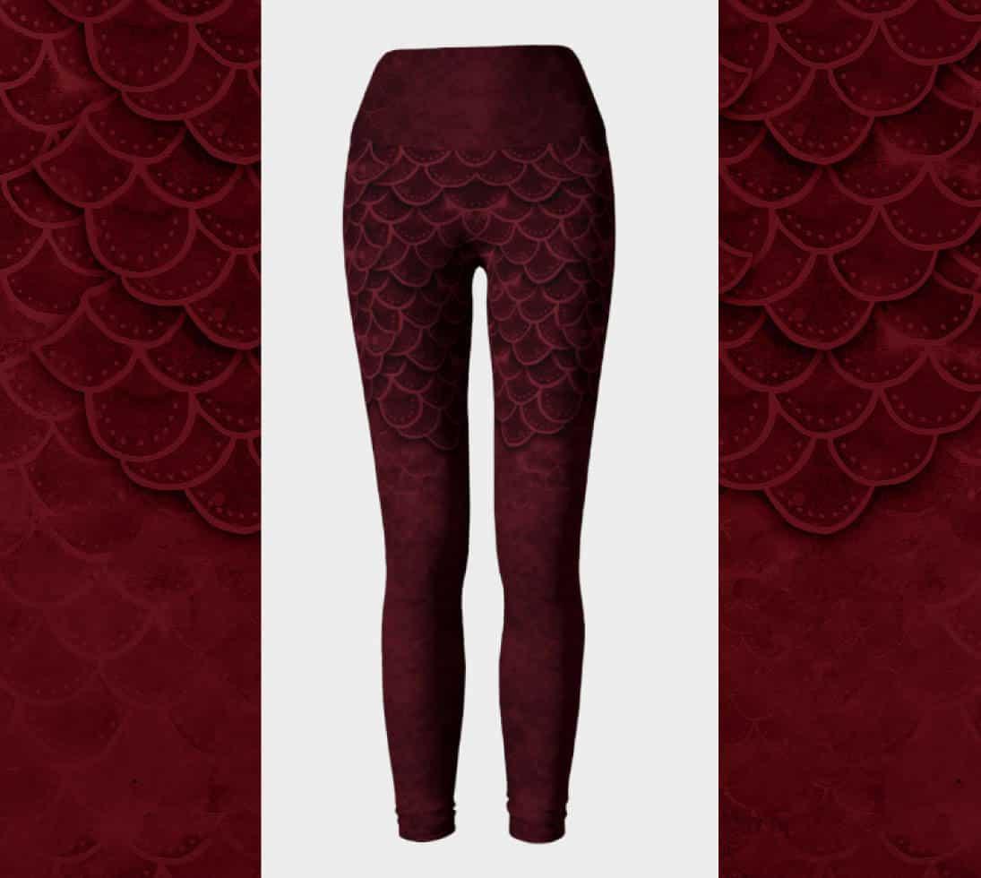 bdbddc52c1d0bb Dark Red Goth Mermaid - Love Her Leggings
