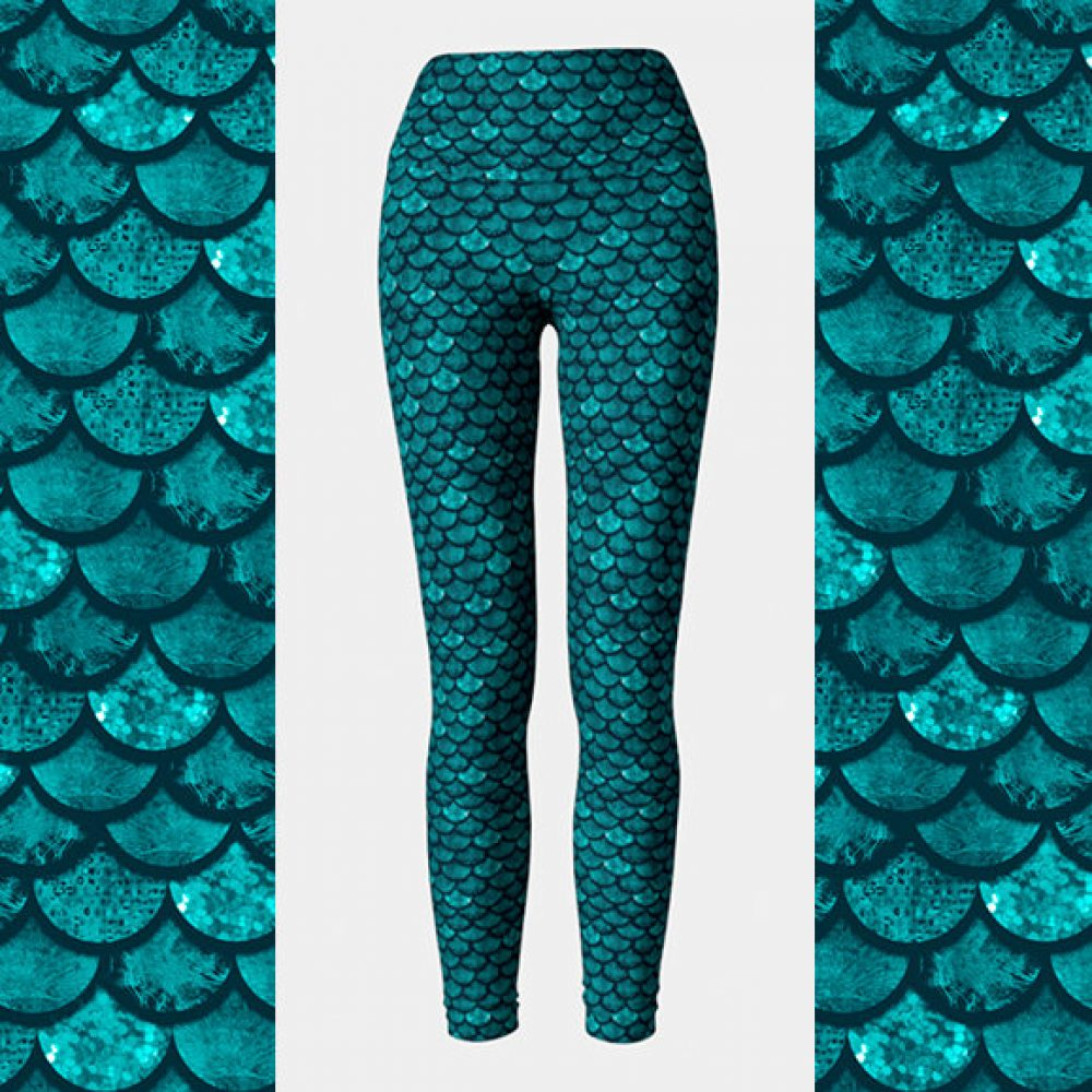 Glitterfish Aqua Mermaid Leggings