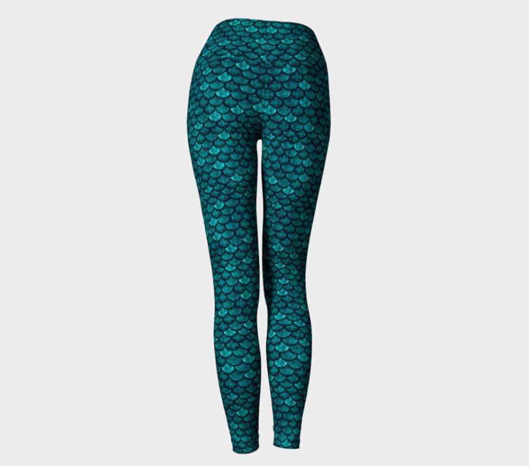 faef834f23 Glitterfish Glam | Mermaid Scales High Waist Yoga Leggings