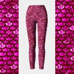 Glitterfish Berry Mermaid Leggings