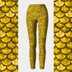 Glitterfish Gold Mermaid Leggings