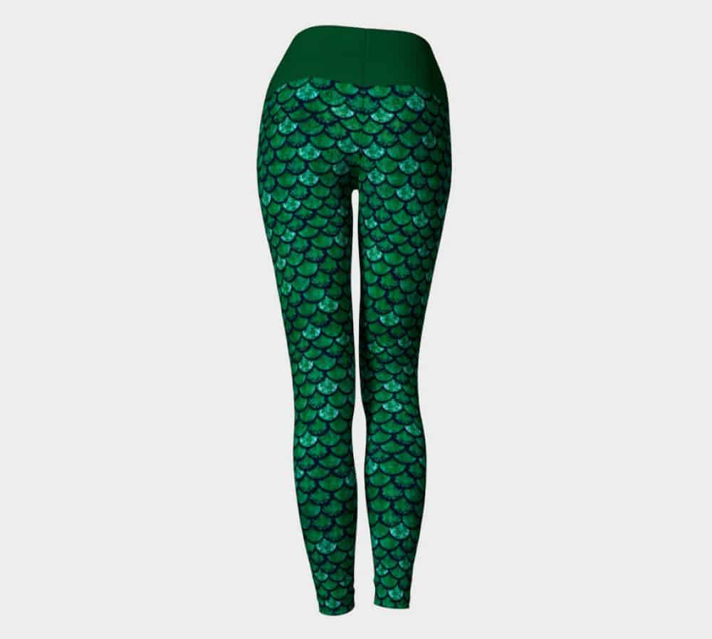Glitterfish Green Mermaid Scale Leggings/ Capris