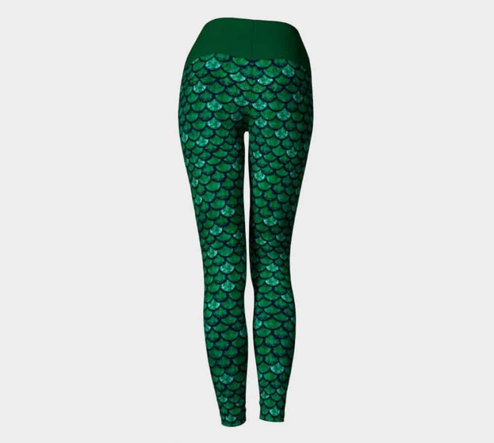 Glitterfish Green Mermaid Scale Leggings/ Capris