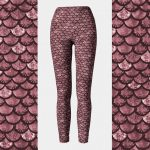Glitterfish Rose Gold Mermaid Leggings