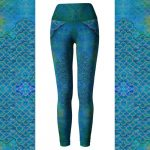 Handpainted Mermaid Leggings