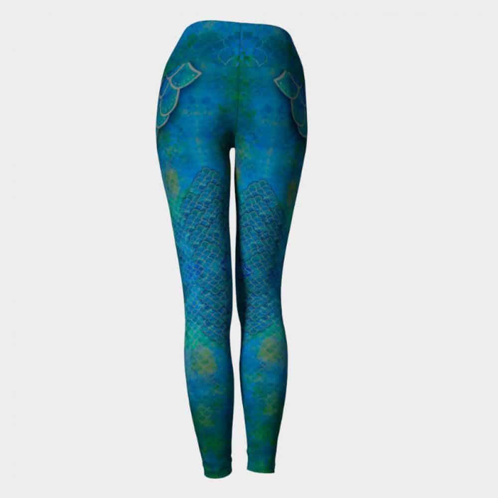 Handpainted Mermaid Leggings