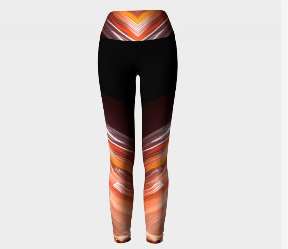 Light Dipped Black Yoga Pants
