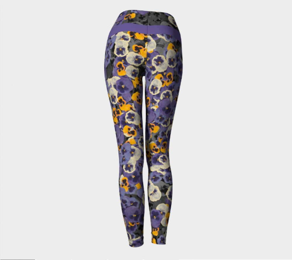 Pressed Flower Yoga Pants / Capris
