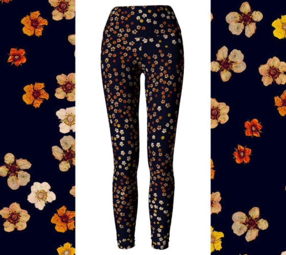 Pressed Flowers Leggings/ Capris